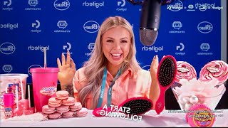LIVE PINK FOOD MUKBANG + HOW TO MAKE AN EDIBLE HAIRBRUSH! STREAMING LIVE AT THE LOGITECH BOOTH