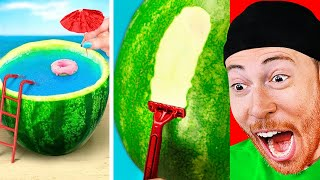 AMAZING Watermelon DIY Experiments and Life Hacks