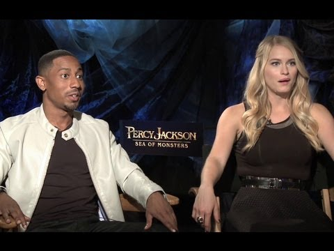 Brandon T. Jackson & Leven Rambin Interview - Percy Jackson: Sea ...