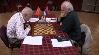 HISTORY GM Korchnoi Age 80   vs GM Ivkov,  Age 77 Rapid Botvinnik