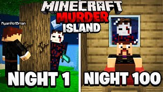 Surviving 100 Nights on a Minecraft Murder Island.. here's what happened