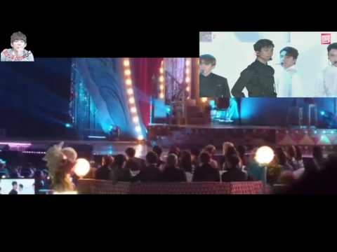 EXO & BTS REACTION DURING SEVENTEEN PERFORMANCE AT MELON MUSIC AWARDS + CHANYEOL SHOCKED 161119