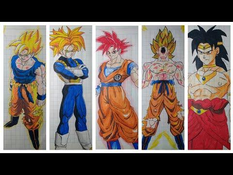 Hình vẽ nhân vật trong Dragon Ball - Nam Art Drawing