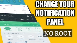 How to change notification panel on Android without root malayalam