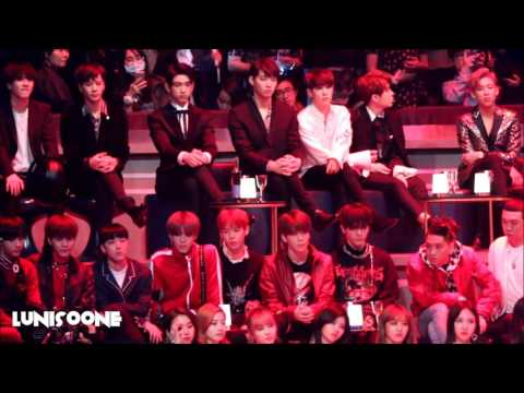 [HD] 161202 GOT7 & NCT Reaction to EXO Monster Stage in MAMA HK