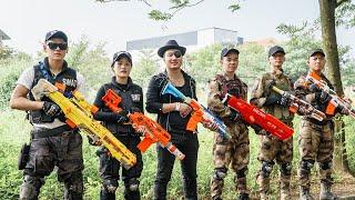 LTT Game Nerf War : Warriors SEAL X Nerf Guns Fight Crime group Inhuman Rob New Weapons
