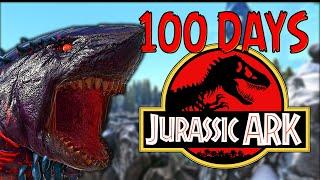 I SPENT 100 DAYS IN JURASSIC ARK!!   Modded Ark 100 Days Part. 1