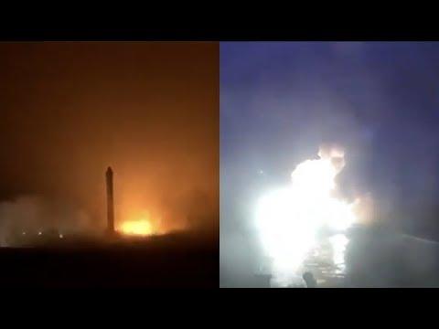 Falcon Heavy boosters landing, June 2019