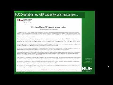 Webinar- AEP Ohio's Market Based Capacity Pricing Model