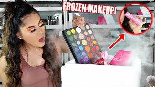 FULL FACE Using FROZEN MAKEUP *I Froze My Makeup*