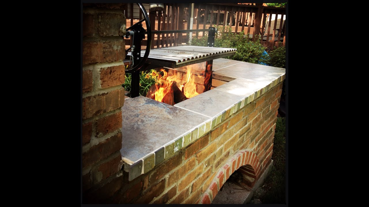 Argentine Grill Amp Brick Bbq Smoker Time Lapse Youtube