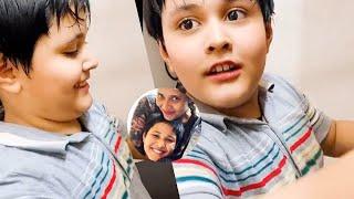 Jabardasth Anasuya's son Shaurya cooking video..