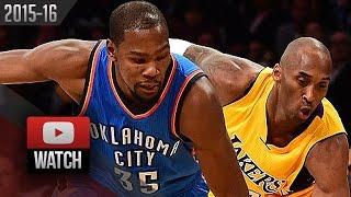 Kevin Durant vs Kobe Bryant Duel Highlights (2015.12.23) Lakers vs Thunder - TOO SICK!