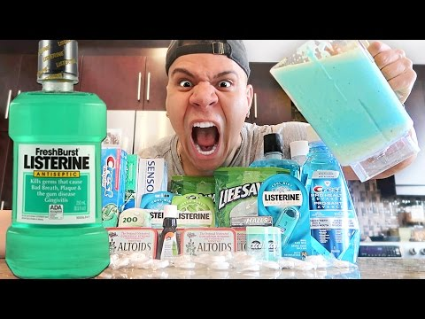 MINTIEST DRINK IN THE WORLD CHALLENGE (EXTREMELY DANGEROUS)