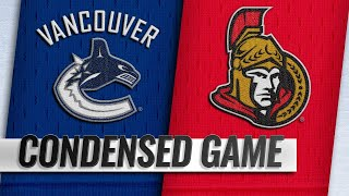 01/02/19 Condensed Game: Canucks @ Senators