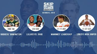 UNDISPUTED Audio Podcast (10.02.19) with Skip Bayless, Shannon Sharpe & Jenny Taft   UNDISPUTED