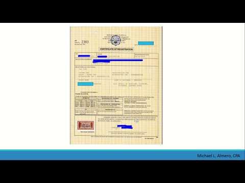 BIR Form 2303 or Certificate of Registration EXPLAINED