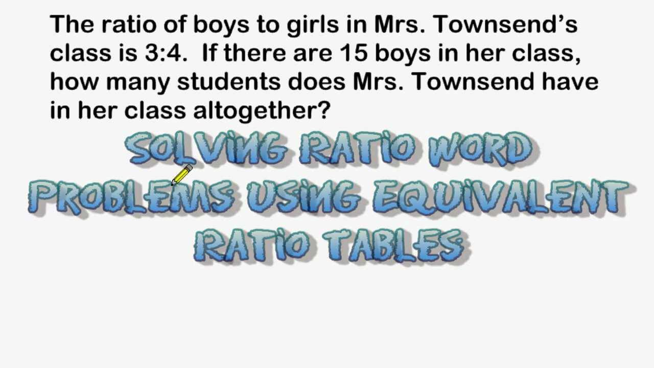 using equivalent ratio tables to solve word problems youtube. Black Bedroom Furniture Sets. Home Design Ideas