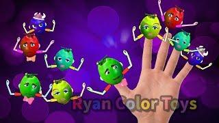 Coconut Finger finger family song kids tv finger family fruits nursery rhymes song watermelon