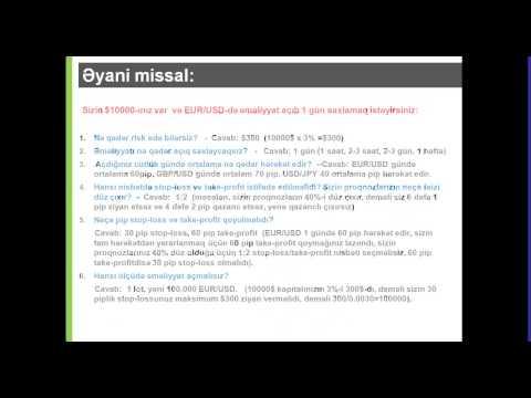 Onlayn Web Seminar - Foreks Pul menecmenti ilə ilkin tanışlıq  / Şaiq Hüseynov 17 Sentyabr 2013