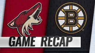 Bruins ride big 2nd to 4-3 win against Coyotes