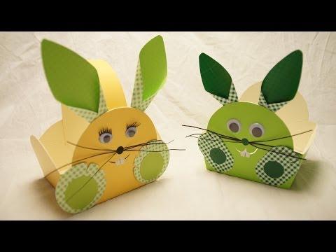 osterk rbchen osterhase basteln zu ostern how to make an easter bunny egg basket youtube. Black Bedroom Furniture Sets. Home Design Ideas