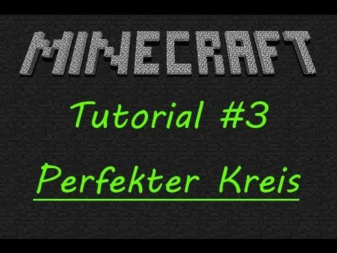 how to perfekter kreis in minecraft german deutsch hd youtube. Black Bedroom Furniture Sets. Home Design Ideas