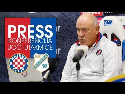 Konferencija za medije trenera Bore Primorca uoči Jadranskog derbija
