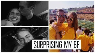 traveling 5 1/2 hours to surprise my boyfriend