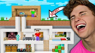 If You Find The SECRET BASE, You WIN MONEY! (Minecraft)