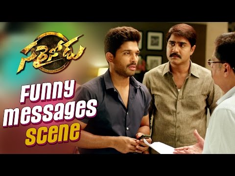 Sarrainodu-Comedy-Trailer----Funny-Messages-Scene