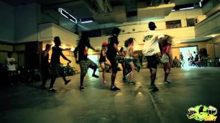Big Up Kemp Europe 2013. Dancehall workshop by Lil Gbb. Busy Signal - Grease Up