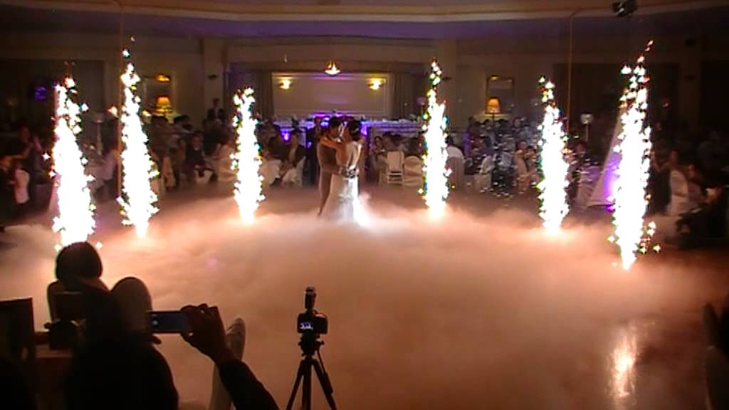 Wedding Fireworks Amp Dry Ice Youtube