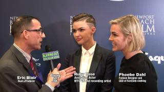 Ruby Rose / Phoebe Dahl talk Same-sex marriage w Eric Blair