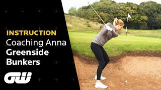 How to Make Par From a Greenside Bunker | Simon Holmes Bunker Tips | Coaching Anna | Golfing World