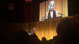 Lady Gaga accepts best actress at NBR 2019