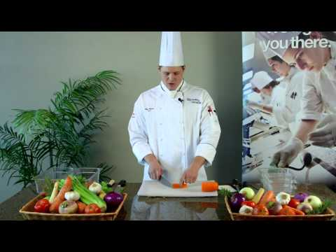 Culinary  Quick Tips  Vegtable Cuts Rondelle Bias