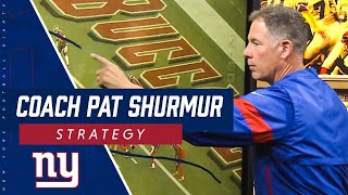 Coach Pat Shurmur illustrates a KEY moment from Giants' big win over the Buccaneers