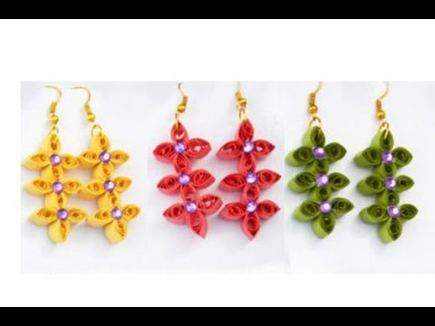 Quilling Paper Earrings Making Video Quilling Papers Earring