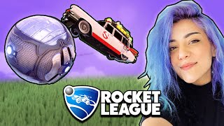 I surprised her in Rocket League...