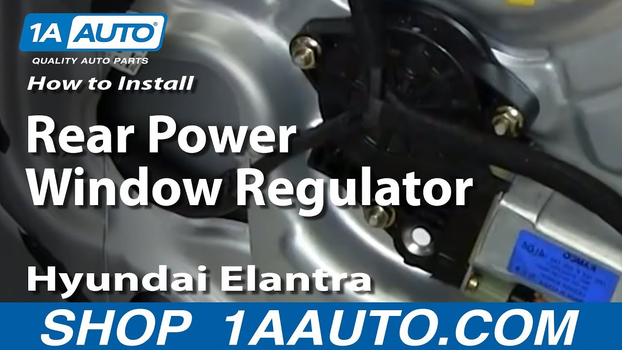 How To Install Replace Rear Power Window Regulator 2001 06