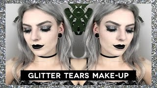 GLITTER TEARS MAKE-UP | nye party look