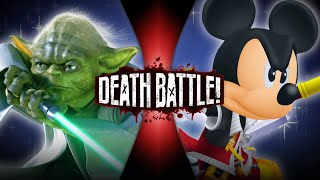 Yoda VS King Mickey (Star Wars VS Kingdom Hearts) | DEATH BATTLE!