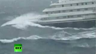 Dramatic video of Clelia II Antarctic cruise ship slammed by giant waves