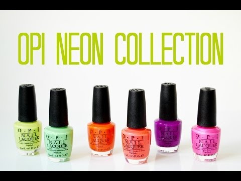 Review and Swatches: OPI Neon Collection