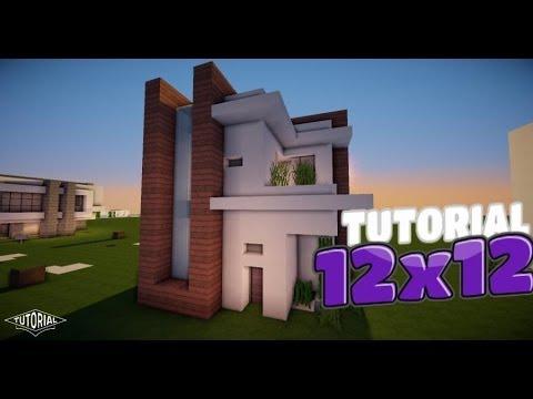 Minecraft como hacer una casa moderna 5x5 tutorial de for Casa moderna 6x6