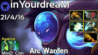 inYourdreaM [TIGERS] plays Arc Warden!!! Dota 2 7.19
