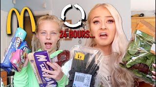 I swapped DIETS with my 11 year old SISTER for 24 HOURS...