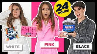 Eating Only ONE Color of Food for 24 Hours! **Food Challenge** W/ Piper Rockelle| Sophie Fergi
