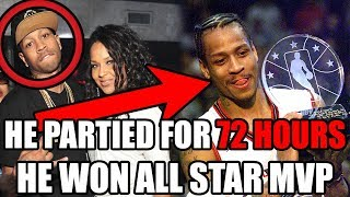 The Time Allen Iverson PARTIED for 72 Hours Straight But WON NBA All-Star Game MVP